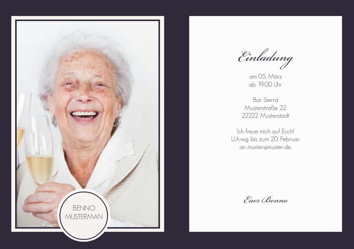 Geburtstagseinladung Lila, Kreative Einladungen