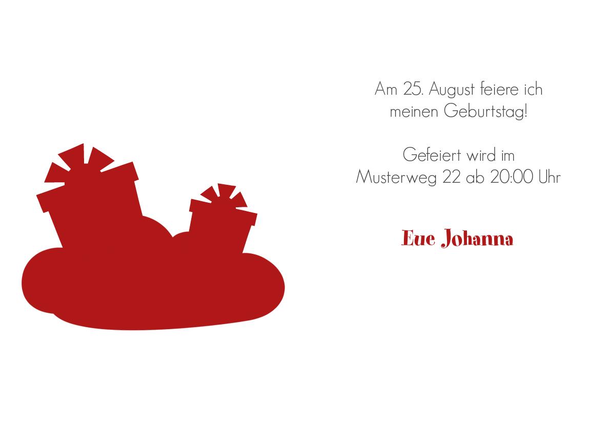 Einladung 40. Geburtstag Red Clouds | FamBooks.net