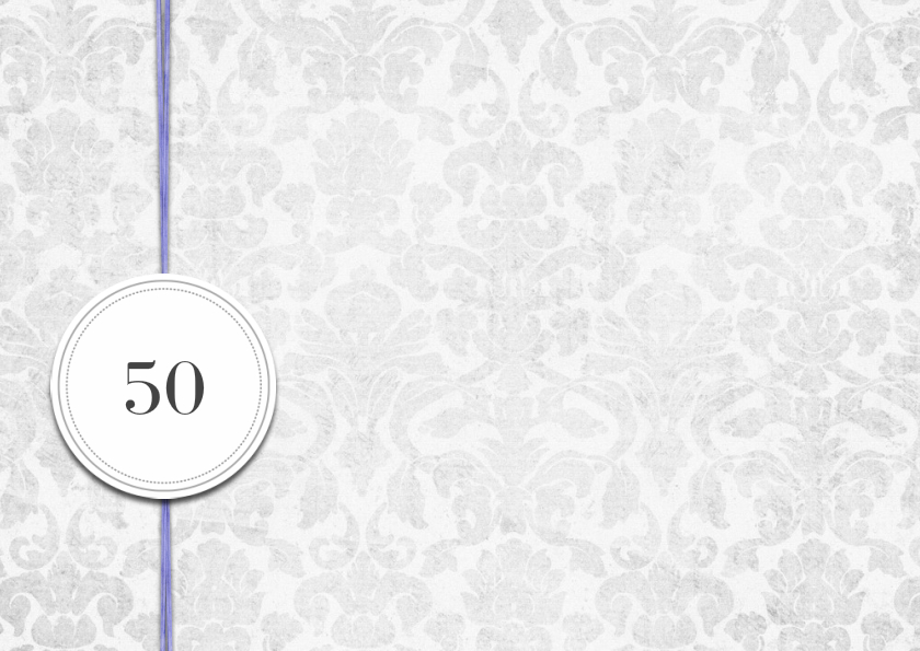 Einladung 50 Geburtstag Lila Grey