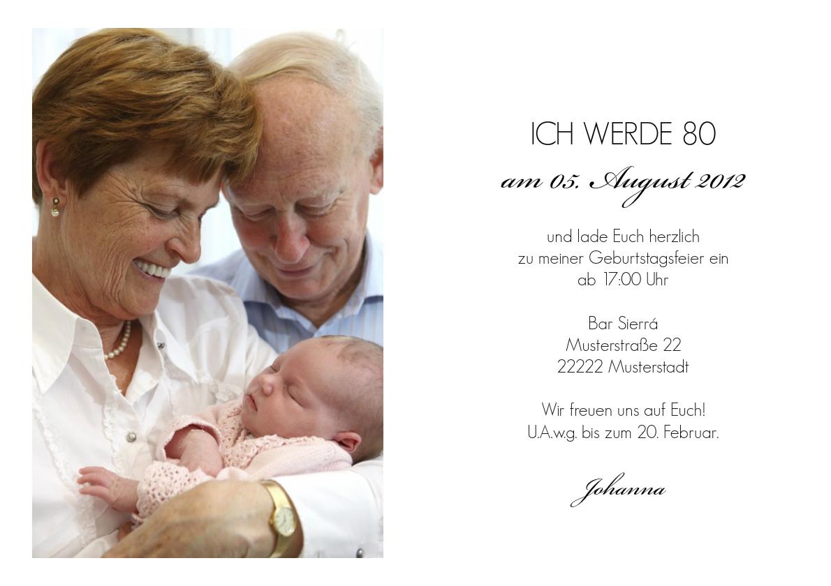 Einladung 80 Geburtstag Elizabeth