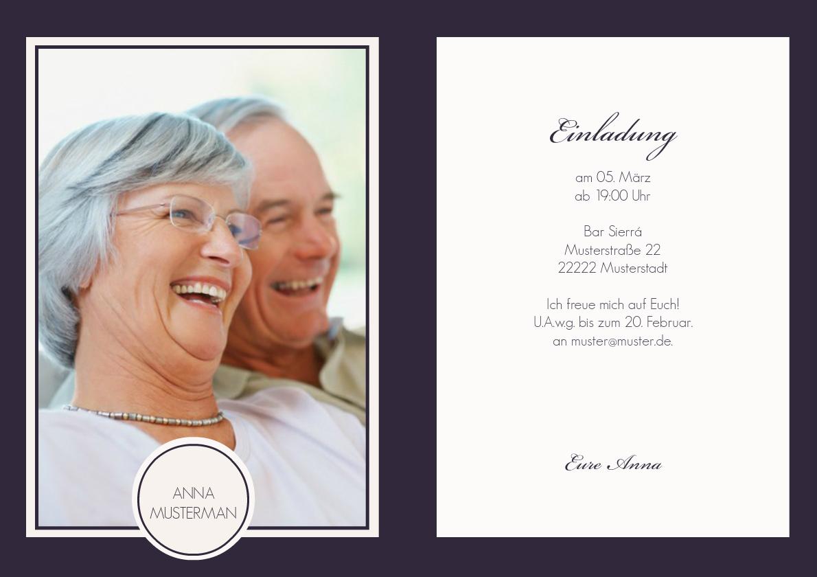 einladung 90. geburtstag lilia, Einladungsentwurf