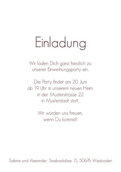 Fesselnd Einladung Einweihung Emil, Einladung