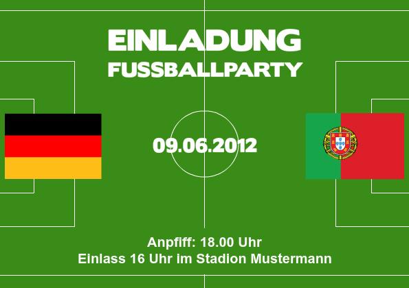Einladung EM Party Deutschland-Spiel 3