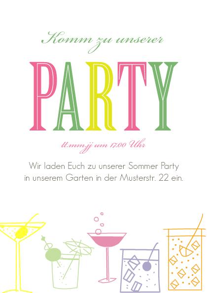 Einladung Gartenparty Party Spaß | FamBooks.net
