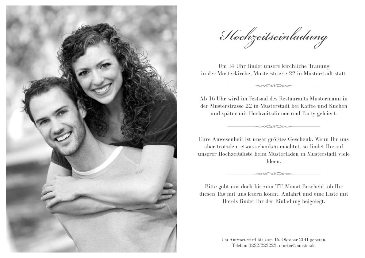 Einladung Hochzeit Leonore, Einladungs
