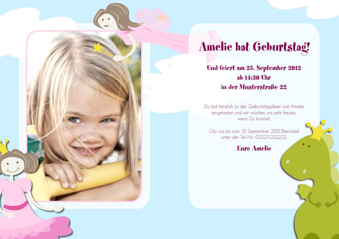 Einladung Kindergeburtstag Emmi | FamBooks.net
