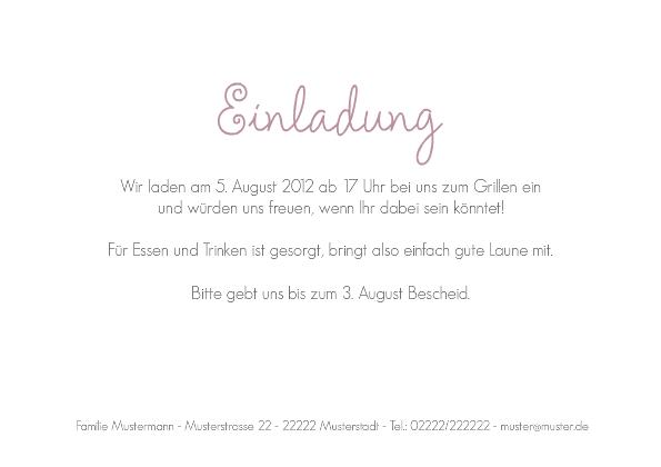 einladung sommerparty pink circle, Einladung