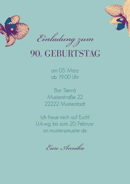 einladungskarte 90. geburtstag fynn 2, Einladungsentwurf