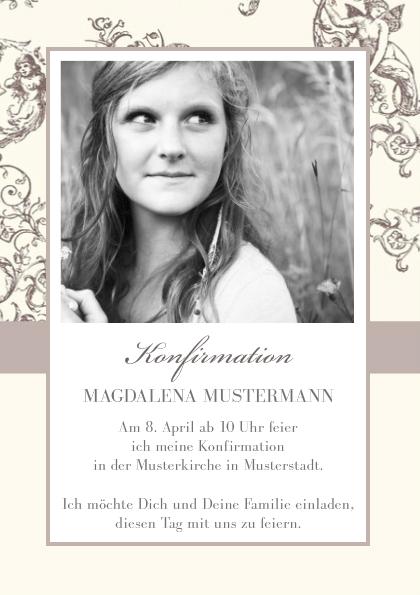 Einladungskarte Konfirmation Jugendstil | FamBooks.net