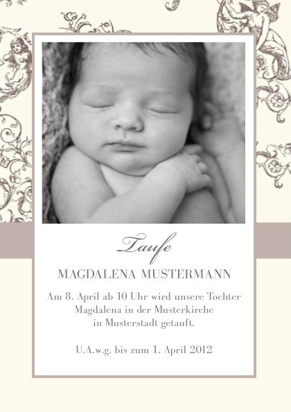 Einladungskarte Taufe Jugendstil | FamBooks.net