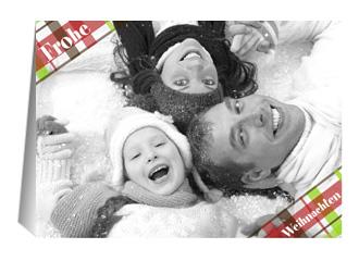 Weihnachtskarte Karos (Klappkarten DIN A5 quer)