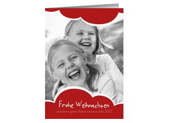 Weihnachtskarte Red Cloud (Klappkarten DIN A6 h...