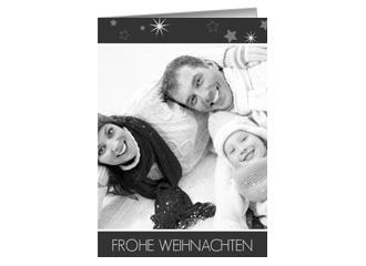 Weihnachtskarte Sternenzauber (Klappkarten DIN ...