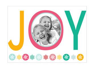Weihnachtskarte JOY (Postkarten DIN A5 quer)