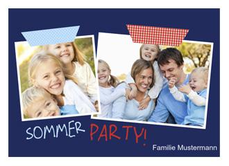 Einladung Gartenparty Summertime (Postkarten DI...