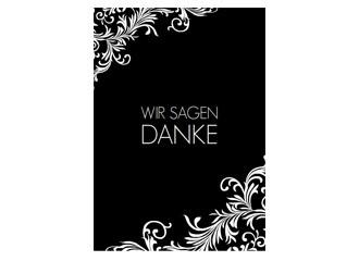 Dankeskarte Hochzeit Elizabeth 3 (Postkarten DI...