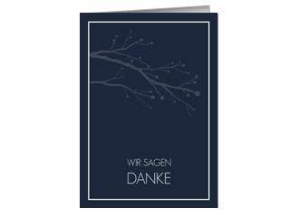 Danksagungskarte Hochzeit William 1 (Klappkarte...