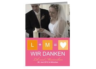 Danksagungskarte Hochzeit Felice (Klappkarten D...