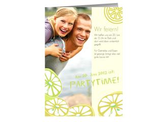 Einladung Lemon Time (Klappkarten DIN A5 hoch)