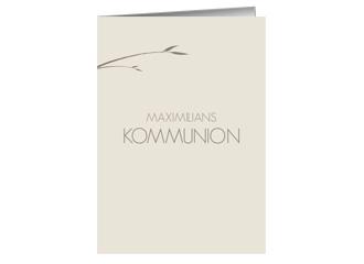 Einladung Kommunion Wonderful Creme (Klappkarte...