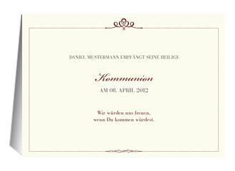 Einladung Kommunion Royal (Klappkarten DIN A5 q...