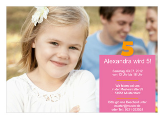 Einladung Kindergeburtstag Alexa (Postkarten DI...