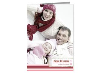 Weihnachtskarte Stripes (Klappkarten DIN A6 hoch)
