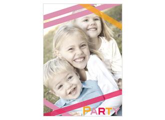 Einladung Party Stripes (Postkarten DIN A5 hoch)