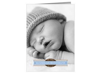 Geburtsanzeige Welcome Boy (Postkarten DIN A5 h...