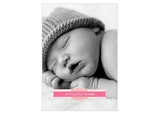 Geburtsanzeige Welcome Pink (Postkarten DIN A5 ...