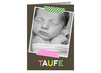 Einladung Taufe Sweet Thanks (Klappkarten DIN A...
