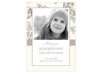 Menükarte Konfirmation Jugendstil (Postkarten D...