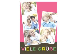 Grußkarte Fotostreifen (Postkarten DIN A5 hoch)
