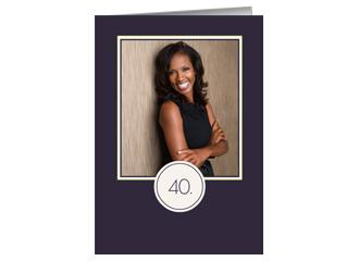 Einladung 40. Geburtstag Lila (Klappkarten DIN ...