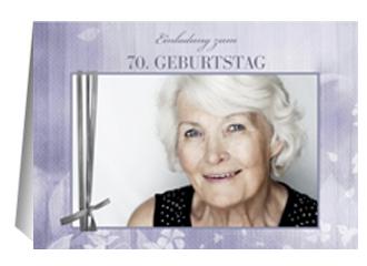 Einladung 70. Geburtstag Liliane (Klappkarten D...