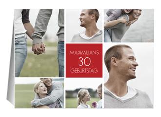 Einladung 30. Geburtstag Pics (Klappkarten DIN ...