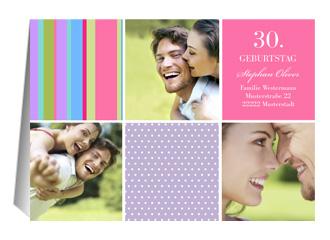 Einladung 30. Geburtstag Bambina (Klappkarten DIN A5 quer)