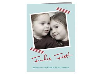 Weihnachtskarte Photostripes (Klappkarten DIN A...