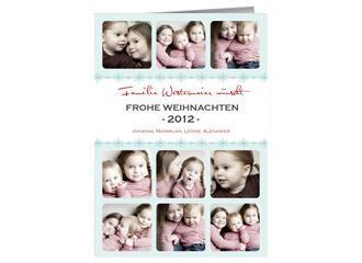 Weihnachtskarte Fröhliche Weihnachten 2 (Klappk...