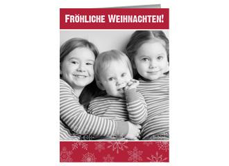Weihnachtskarte Fröhliche Weihnachten 3 (Klappk...