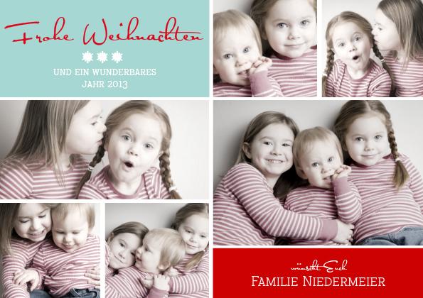 Weihnachtskarte Fröhliche Weihnachten 1 (Postka...