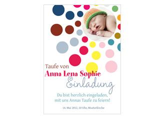 Einladung Taufe Funny Bubbles (Postkarten DIN A...