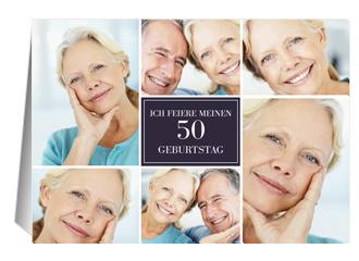 Einladung 50. Geburtstag Lilia (Klappkarten DIN...