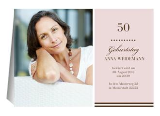 Einladung 50. Geburtstag Big G (Klappkarten DIN A5 quer)