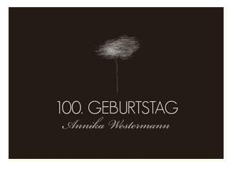 Einladungskarte 100. Geburtstag Tree Tale (Post...