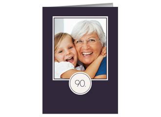 Einladung 90. Geburtstag Lilia (Klappkarten DIN...