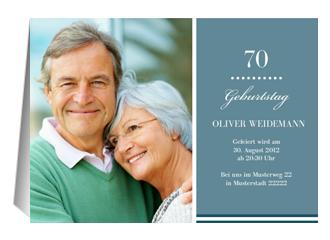 Einladung 70. Geburtstag Big B (Klappkarten DIN A5 quer)