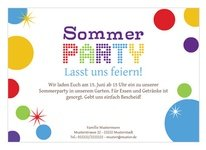 Party Einladung