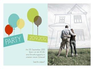 Einladung Einweihung Balloons