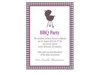 Einladungskarte BBQ